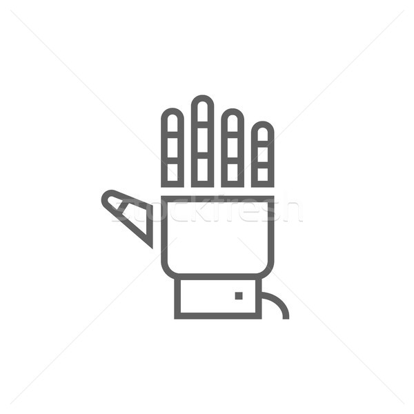 Robot hand line icon. Stock photo © RAStudio