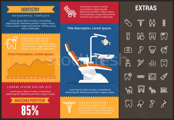 Dentistry infographic template, elements and icons Stock photo © RAStudio