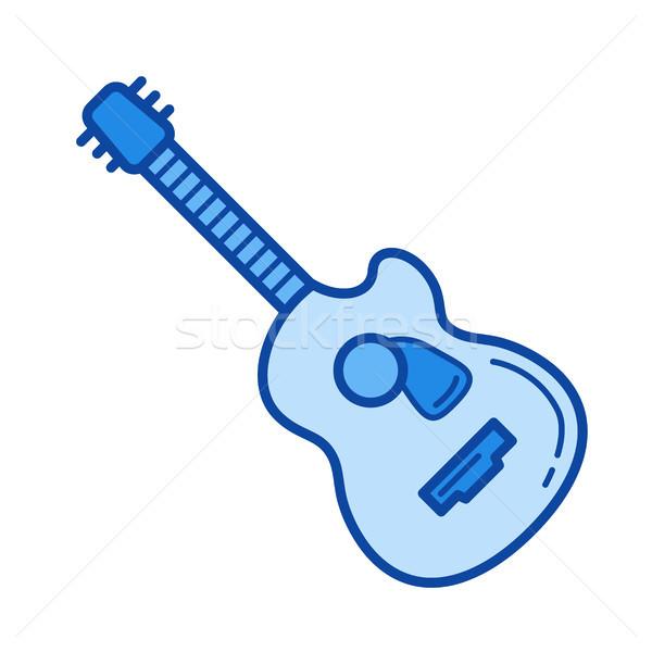 Dzsessz gitár vonal ikon vektor izolált Stock fotó © RAStudio