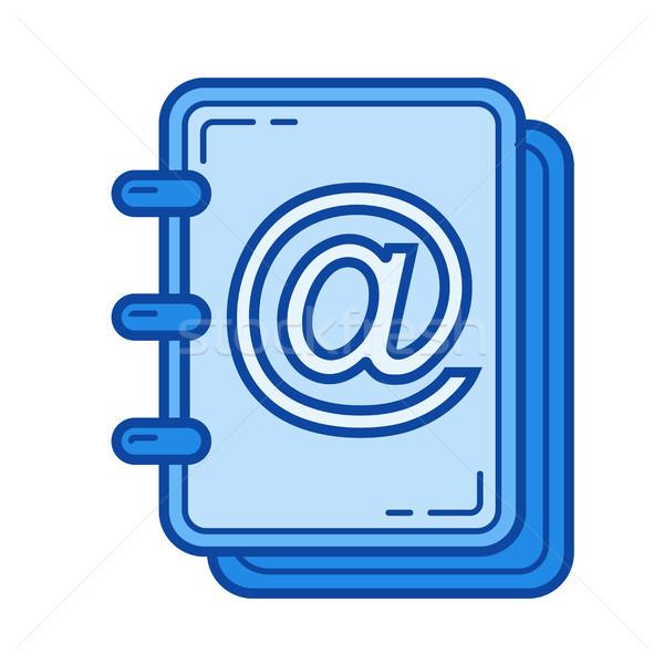 Adjunto foto línea icono vector aislado Foto stock © RAStudio
