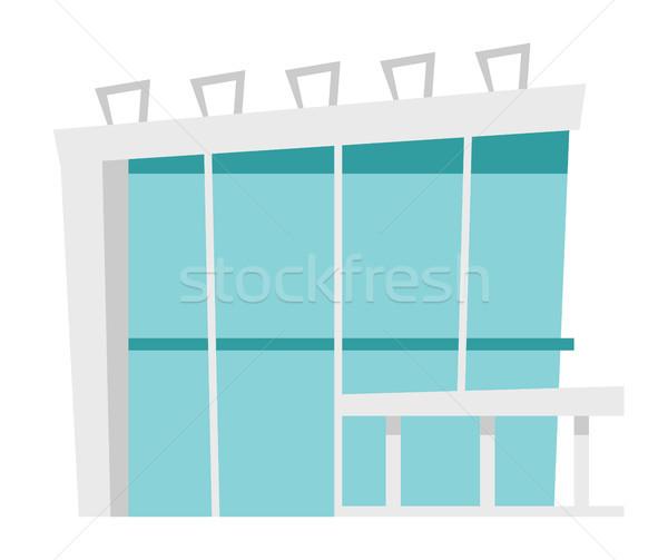 Business center vector cartoon illustration. Stock photo © RAStudio