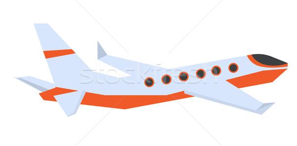 Commercial airplane vector cartoon illustration. Stock photo © RAStudio