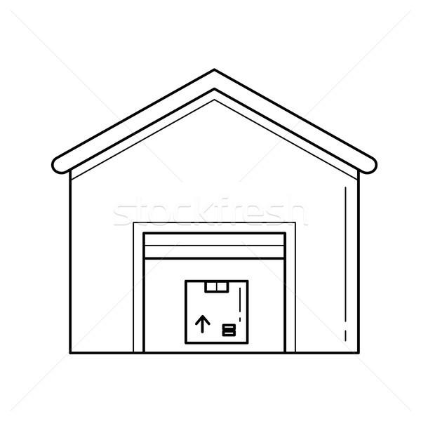 Warehouse vector line icon. Stock photo © RAStudio
