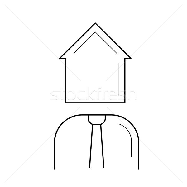 Real estate agent line icon. Stock photo © RAStudio