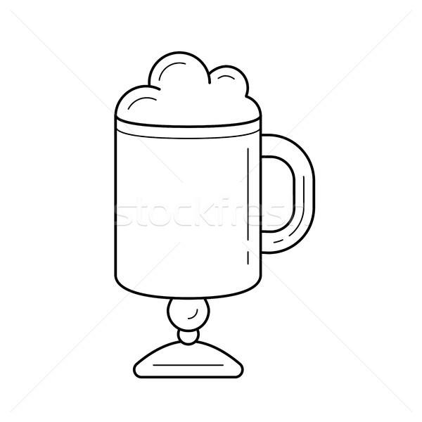 Coffee latte vector line icon. Stock photo © RAStudio