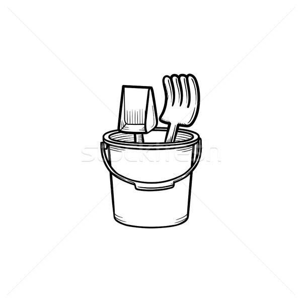 Sandbox toys hand drawn outline doodle icon. Stock photo © RAStudio