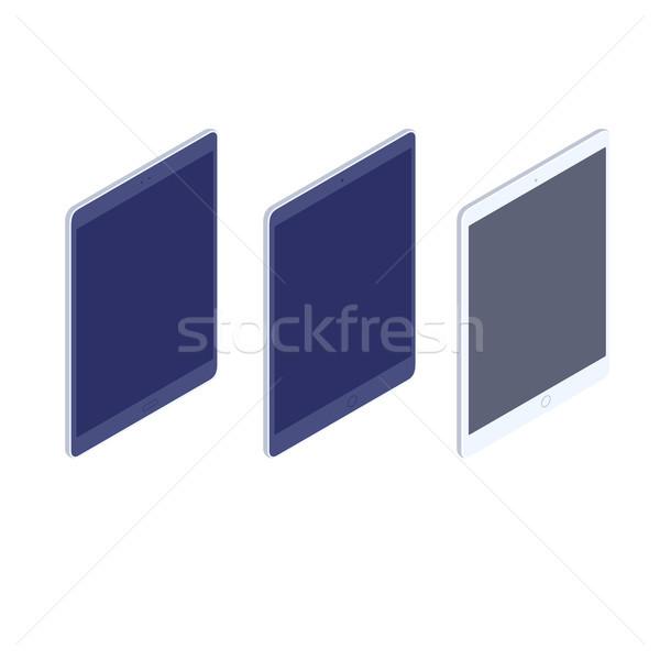 Isometric tablets kit isolated illustration. Stock photo © RAStudio