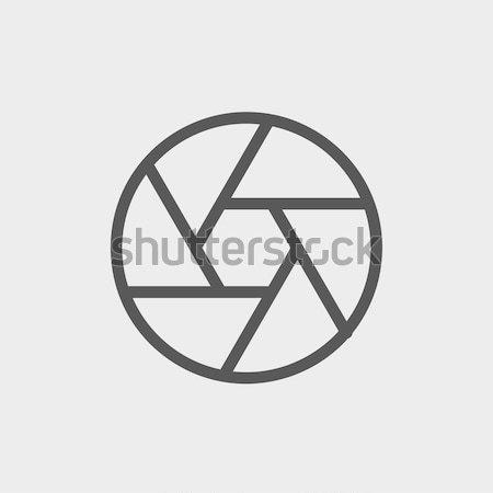 Cámara obturador delgado línea icono web Foto stock © RAStudio