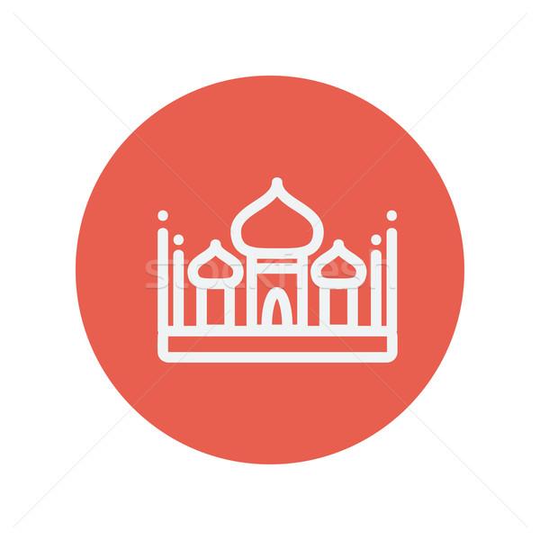 Islamic mosque thin line icon Stock photo © RAStudio