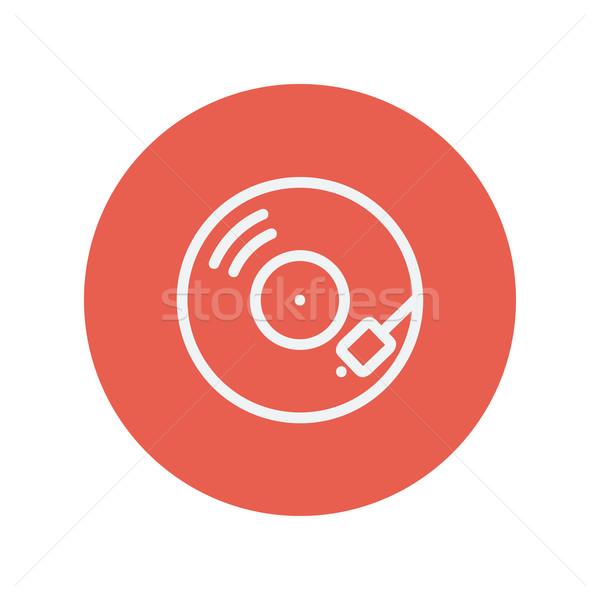 Phonograph turntable thin line icon Stock photo © RAStudio