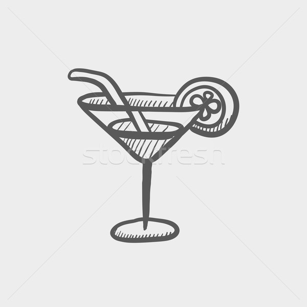 Margarita drink sketch icon Stock photo © RAStudio