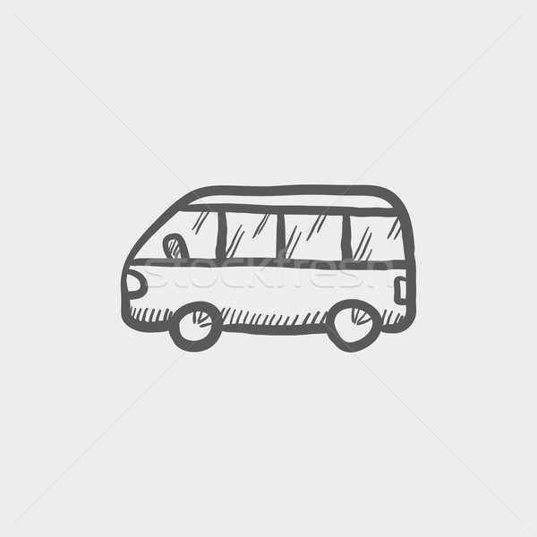 Minibus sketch icon Stock photo © RAStudio