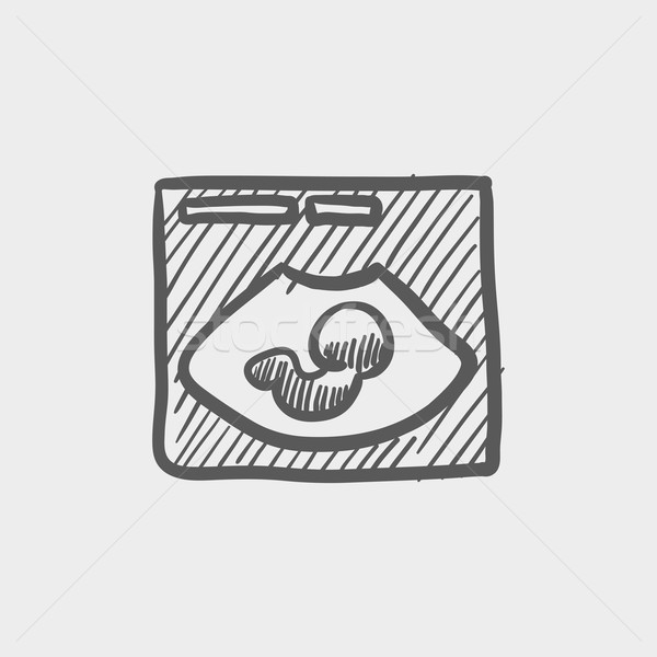 Fetal ultrasound sketch icon Stock photo © RAStudio