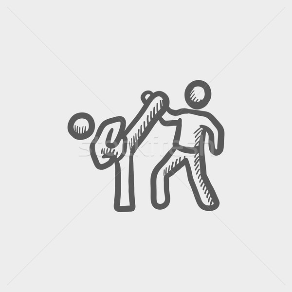 Karet fighters sketch icon Stock photo © RAStudio