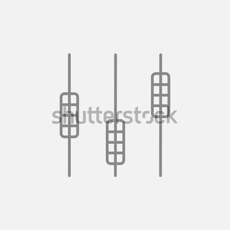 Stockfoto: Geluid · mixer · troosten · icon · krijt