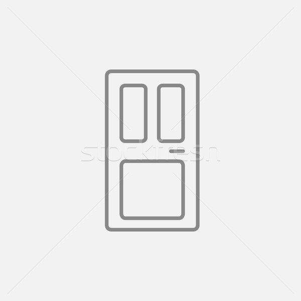 Usa din fata linie icoană web mobil infografica Imagine de stoc © RAStudio