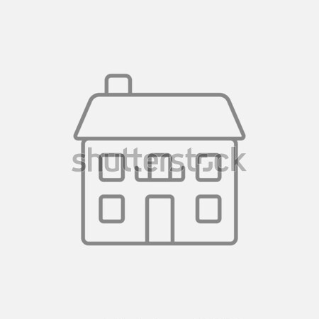 Two storey detached house line icon. Stock photo © RAStudio