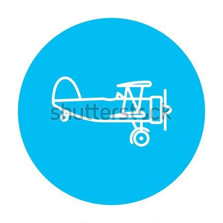 Hélice avião linha ícone teia móvel Foto stock © RAStudio