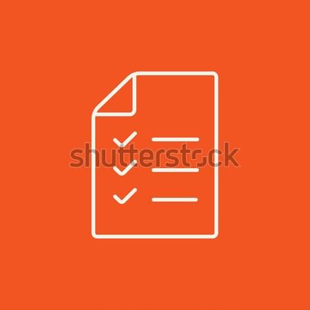 Shopping list line icon. Stock photo © RAStudio