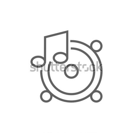 音楽 注記 行 アイコン ウェブ 携帯 ストックフォト © RAStudio