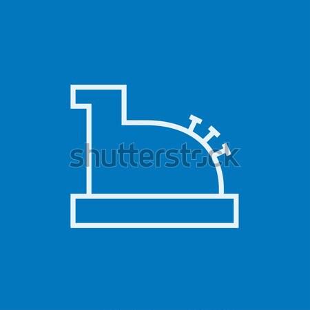 Kassa machine lijn icon web mobiele Stockfoto © RAStudio
