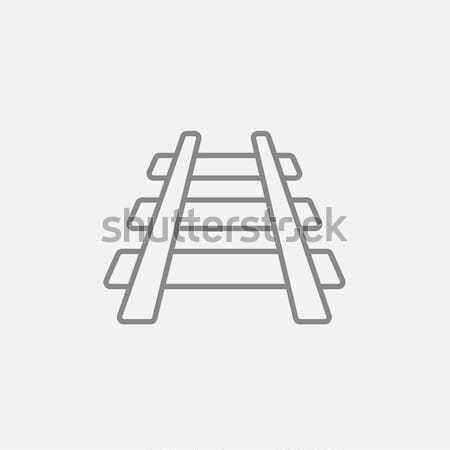 Railway track line icon. Stock photo © RAStudio