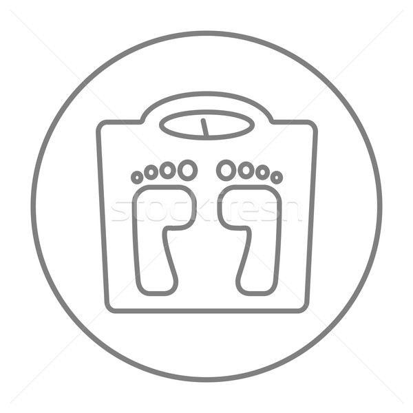 Stock photo: Weighing scale line icon.