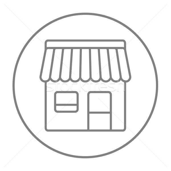 Stockfoto: Winkel · lijn · icon · web · mobiele · infographics