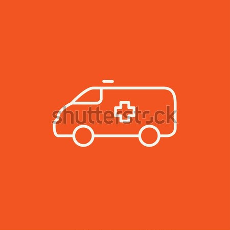 Ambulance auto lijn icon web mobiele Stockfoto © RAStudio