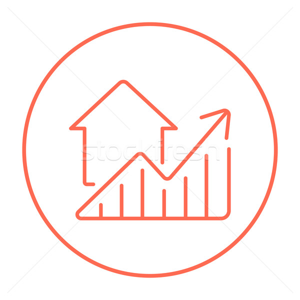 Сток-фото: графа · недвижимости · цены · роста · линия · икона