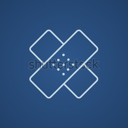 Adhesive bandages line icon. Stock photo © RAStudio