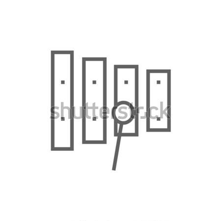 木琴 行 アイコン コーナー ウェブ 携帯 ストックフォト © RAStudio