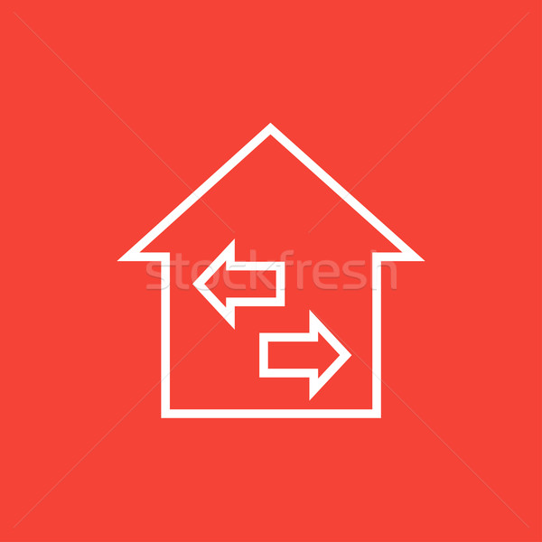 Property resale line icon. Stock photo © RAStudio
