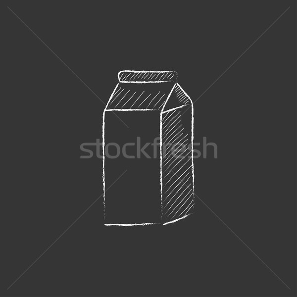 Packaged dairy product. Drawn in chalk icon. Stock photo © RAStudio