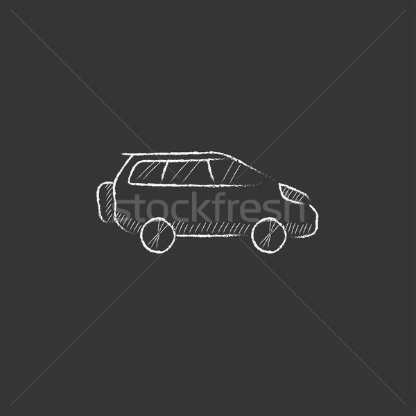 Minivan. Drawn in chalk icon. Stock photo © RAStudio