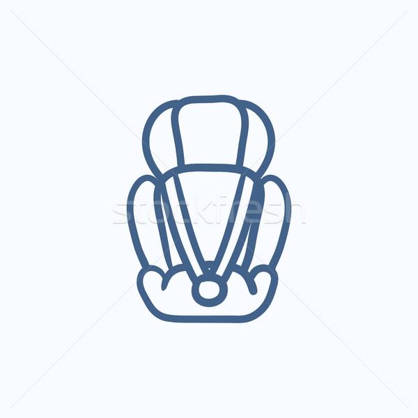 Bebé coche asiento boceto icono vector Foto stock © RAStudio
