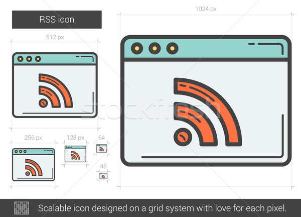 RSS line icon. Stock photo © RAStudio
