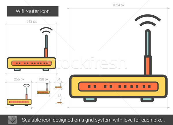Wifi router line icona vettore isolato Foto d'archivio © RAStudio