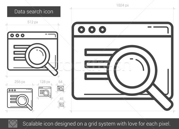 Data search line icon. Stock photo © RAStudio