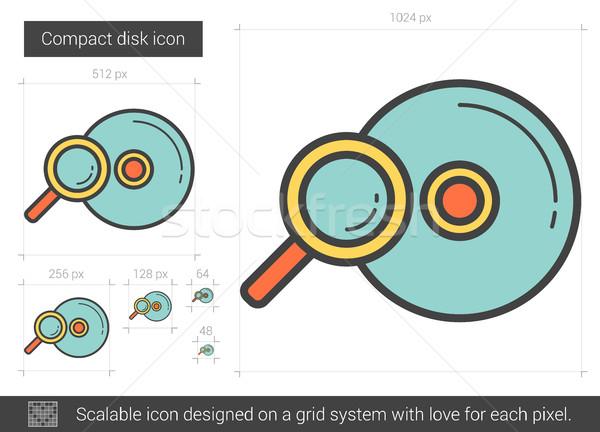 Compact disk line icon. Stock photo © RAStudio