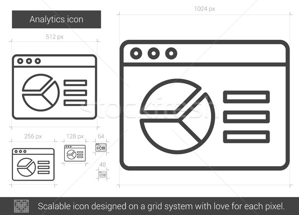 Analytics line icon. Stock photo © RAStudio