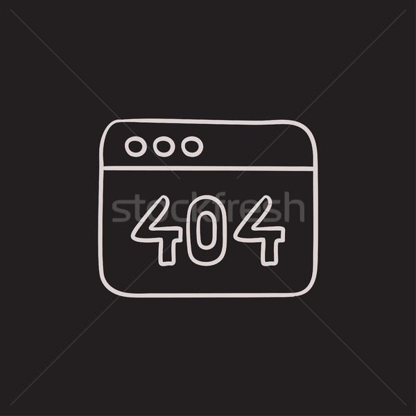 Navigateur fenêtre 404 erreur croquis icône Photo stock © RAStudio
