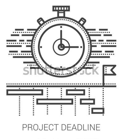 Project termijn lijn iconen metafoor Stockfoto © RAStudio