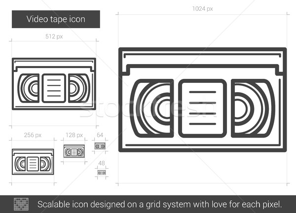 Video bant hat ikon vektör yalıtılmış Stok fotoğraf © RAStudio