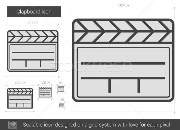 Clapboard line icon. Stock photo © RAStudio