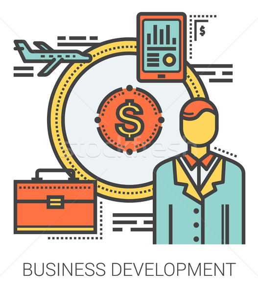 Business development line infographic. Stock photo © RAStudio