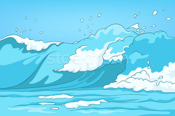 Cartoon background of sea landscape. Stock photo © RAStudio