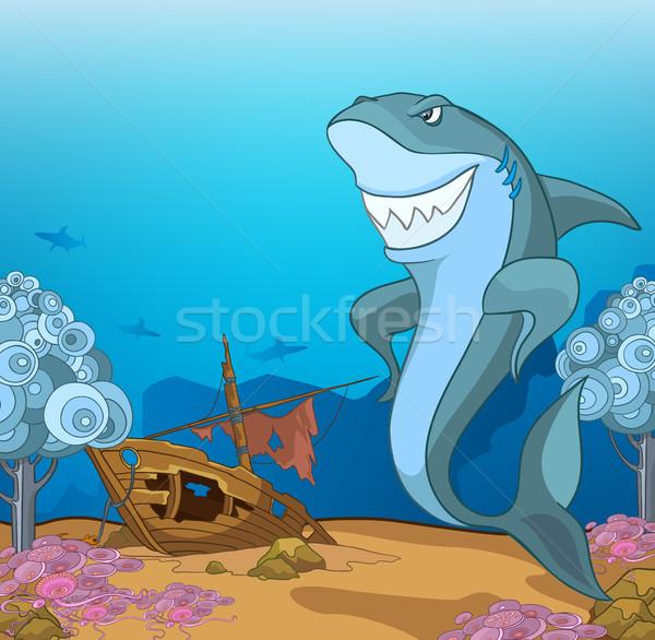 Cartoon подводного жизни рисованной морем пейзаж Сток-фото © RAStudio