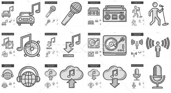 Music line icon set. Stock photo © RAStudio