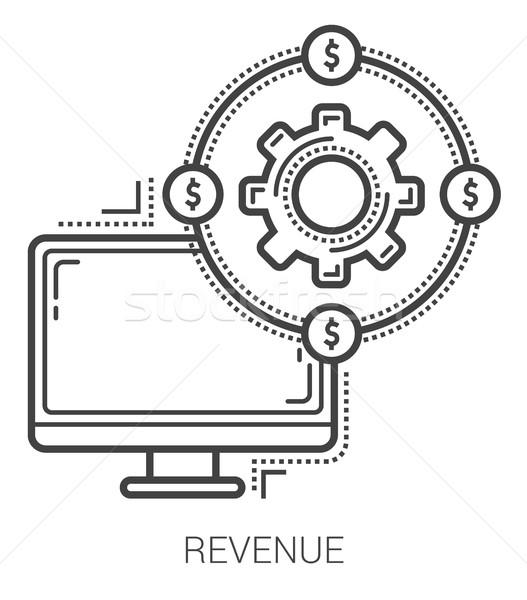 Revenue line icons. Stock photo © RAStudio
